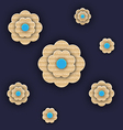 Abstract paper flowers handmade composition vector
