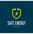 Safe energy with blizzard concept symbol icon or vector