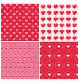 Valentines day heart patterns - 4 patterns vector