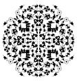 Artistic ottoman black pattern series twenty nine vector