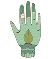 Hand ecology vector
