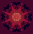 Abstract geometric symetry flower vector