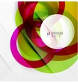 Abstract flowing shapes modern colorful design vector