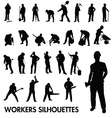 Workers silhouettes vector