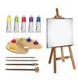 Artist paints vector