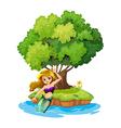A mermaid in an island vector