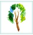 Watercolor green tree vector