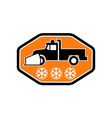 Snow plow truck with snowflake vector