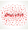 Analysis word with in alphabets vector
