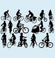 Cycling silhouettes vector