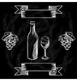 Restaurant or bar wine list on chalkboard vector