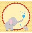 Smart card with an elephant vector