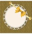Vintage gold frame on floral background vector