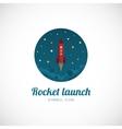 Rocket launch concept symbol icon or logo template vector
