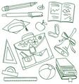 School set vector