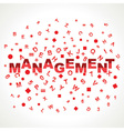Management word with in alphabets vector