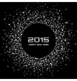 White - black new year 2015 background vector