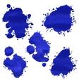 Watercolor splashes vector