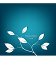 Background with twigs and leaves vector