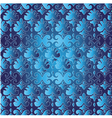 Blue ottoman serial seamless pattern vector