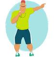 Cartoon sport coach vector