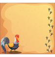 A stationery with a rooster vector