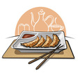 Chinese fried dumplings vector