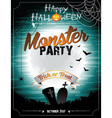 Halloween on a monster party theme vector