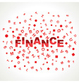 Finance word with in alphabets vector