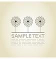 Three dandelions vector