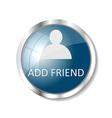 Blue web button vector