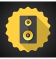 Music speaker sound system flat icon vector