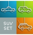 Paper car set vector