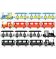 Sightseeing trains vector