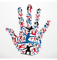 Sports silhouettes hand vector