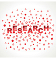 Research word with in alphabets vector