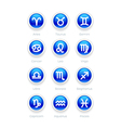 Buttons with zodiac symbol icons vector