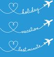 Holiday vacation flying set vector