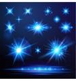 Flare lights set vector