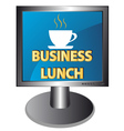 New business lunch icon vector
