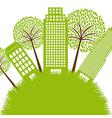 Green buildings vector