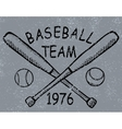 Grunge baseball design t-shirt printing vector