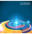 Cosmic colorful shining disc abstract background vector