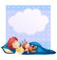 Banner with boy sleeping vector