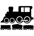 Isolated locomotive train and car vector