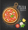 Pizza margherita vector