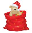 Santa bag bear vector