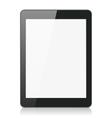Black tablet computer or reader vector