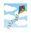 Kite in the sky vector
