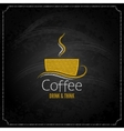 Coffee cup chalk label concept menu vector